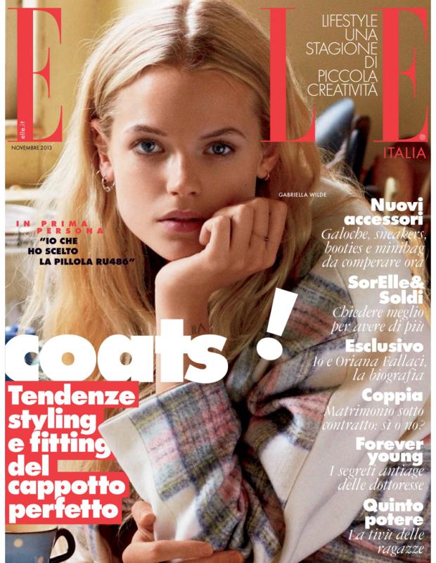 Elle Italia November 2013 Cover